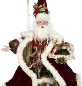 "Rocking Horse Santa 27"""