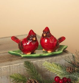 S/3 Dolomite Cardinal Salt & Pepper Shakers