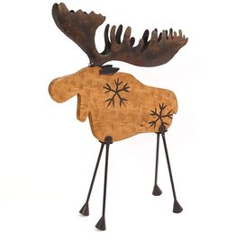"30"" Wood Moose with Metal Legs"