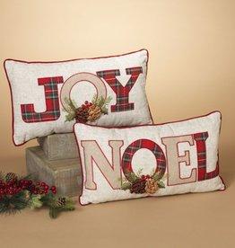 """18"""" Pillow w/ Joy & Noel"""