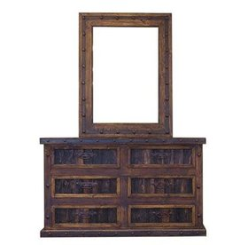 Dresser with reclaimed wood & Mirror