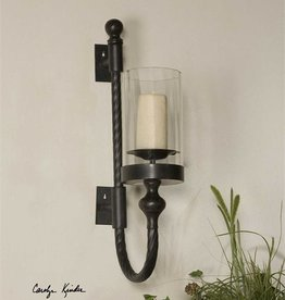 Garvin Twist Wall Sconce w/candle