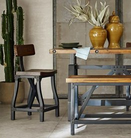 Wood Iron Counter Stool