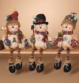 """20""""H Snowman Shelf Sitter 3/asst"""
