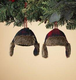 Fabric Cap Ornament 2/asst