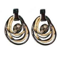 2 Tone Swirl Earrings