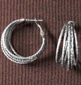 Graduating Rows Hoop Earrings