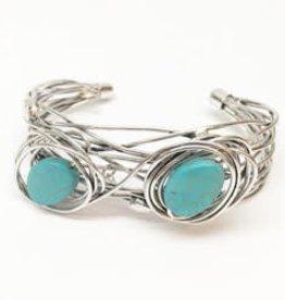 Wire Wrap Turquoise Bracelet