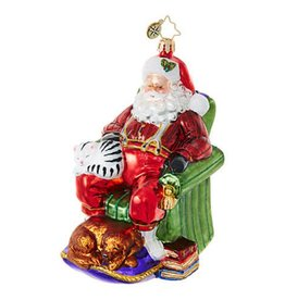 Snoozing Santa 2017 Ornament