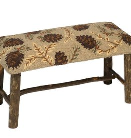 Northwoods Pinecones Hickory Bench