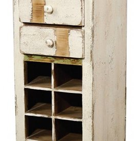 Tuscany Small Wine Chest, Rustic White