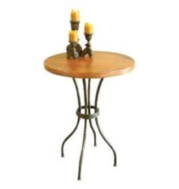 "Woodland Counter Table w/30"" round zinc top"