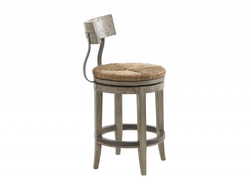 lexington Dalton Counter Stool Twilight Bay/Driftwood