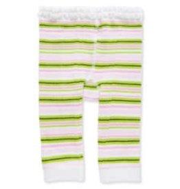 Baby Girl Legging 12-18 Months White/Green/Pink Stripes