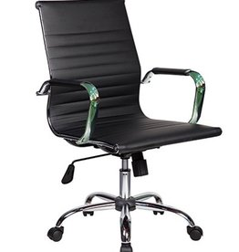 Houzz Modern Executive Chrome Chair, Black