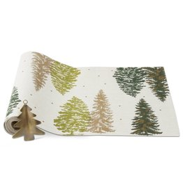 Greenwood Trees Runner and Ornament Set