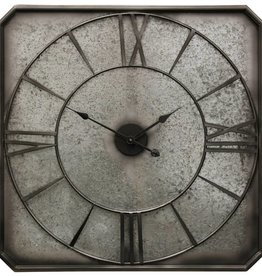 Rustic Galvanized Metal Wall Clock