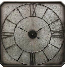 Rustic Galvanized Metal Wall Clock