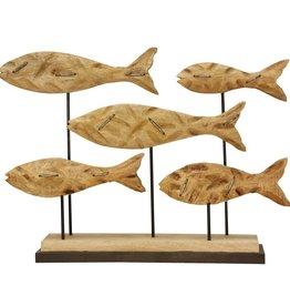 School Fish/Mango Wood