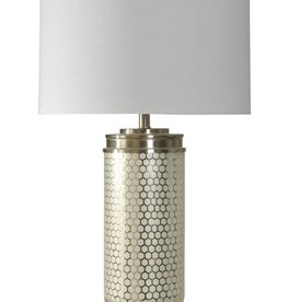 Steel Honeycomb Glass Table Lamp