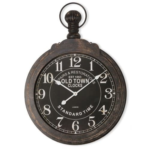 Yosemite Home Decor Iron Framed Wall Clock