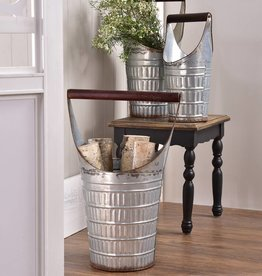 Galvanized Decorative Bucket--Large Only