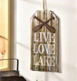 Live Love Lake Metal Sign