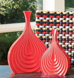 Red Bloom Vase--Medium