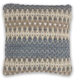 Blue and Beige Laguna Pillow