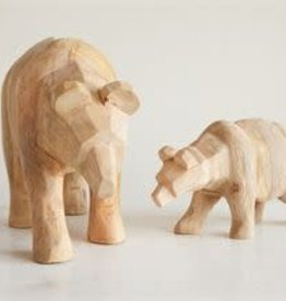 Mango Wood Hand Carved Bear / Small