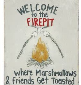 """Tin Wall Decor """"Welome to the Firepit"""""""