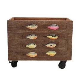 Beachcombers Wooden Fish Box W/ Wheels