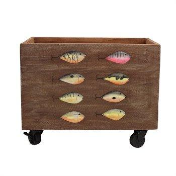 Beachcombers Wooden Fish Box W Wheels