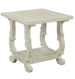 Coast To Coast Imports White End Table