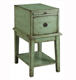 Coast To Coast Imports Rustic Green Cabinet