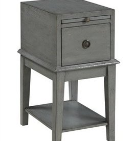 Coast To Coast Imports Distressed Grey Cabinet