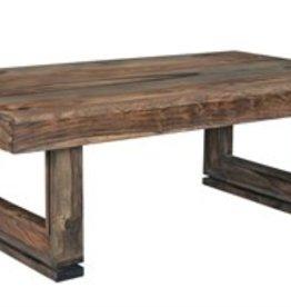 Coast To Coast Imports U-shape Wood Cocktail Table