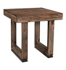 U-shaped Wood End Table