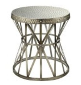 Hammered Antique Accent Table