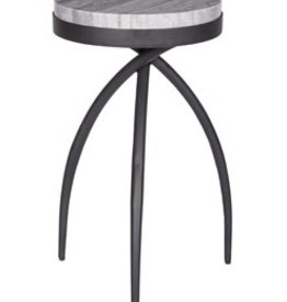 Coast To Coast Imports Round Marble Accent Table