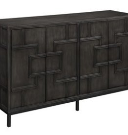 Coast To Coast Imports Geometric Black Media Credenza