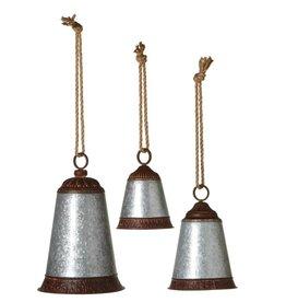 Silver Embossed Bells---S/3