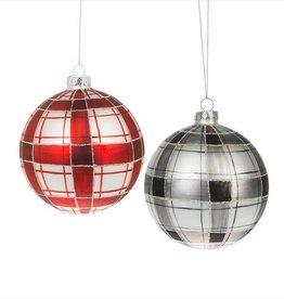 Plaid Ornament--RED