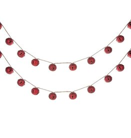 Red Sleigh Bell Garland