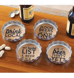 Beer Bottle Coaster Set