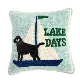 Lake Days Hooked Pillow