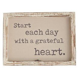 Grateful Window Pane Plaque