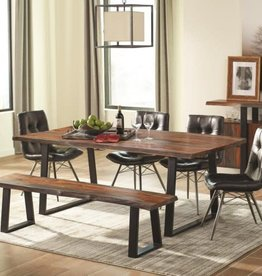 Coaster Jamestown Rustic Live Edge Dining Table