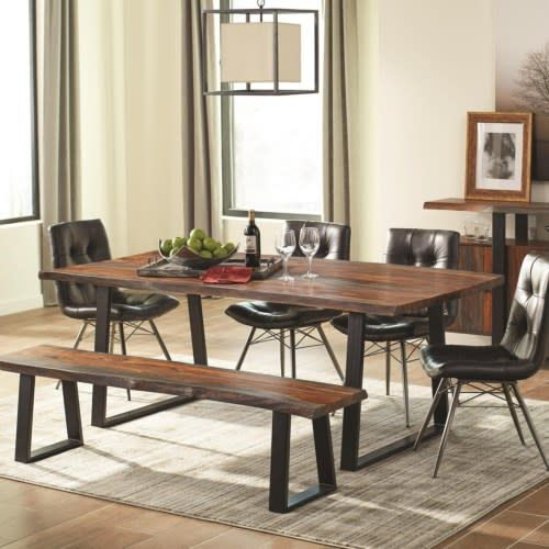 Jamestown Rustic Live Edge Dining Table Beckman S