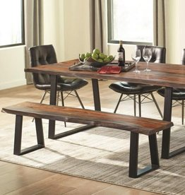 Coaster Jamestown Rustic Live Edge Dining Bench